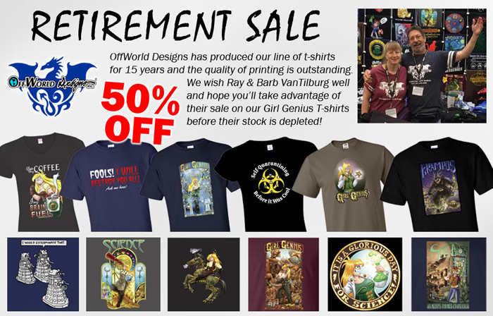 OffWorld Designs Retirement Sale