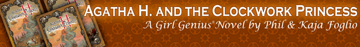 The new Girl Genius novel